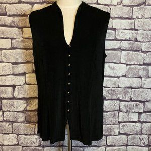 Chico's Travelers Button Down Top Size XL